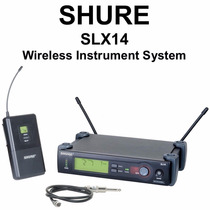 Microfone Shure Slx14 - Instrumento Ou Auricular
