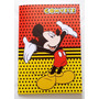 Convite Aniversario Mickey Vermelho (10 Unidades)