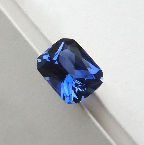 12a62deca52 Safira Pedra Preciosa Retângulo 10x8 Mm Safira Azul 3071b