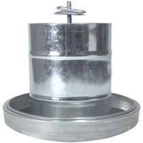 Comedouro Tubular Aves 6kg Prato Aluminio Zatti