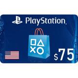 Playstation Giftcard Psn Contas Americana $75 Envio Imediato