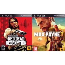 Red Dead Redemption + Max Payne 3 Ps3 Psn Midia Digital