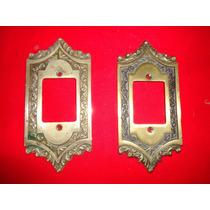 Antiguidade Espelho Bronze Antigo P/ Tomada Ou Interruptor