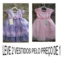 Vestido Luxo Princesinha Sofia E Princesinha Aurora Promoção