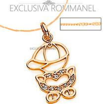 Rommanel Gargantilha Pingente Menino Fo Ouro Zirconia 541411