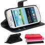 Capa Case Carteira Couro Galaxy S3 Core Duos G3502 +pelicula