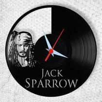 Piratas Do Caribe - Relógio De Parede - Disco De Vinil
