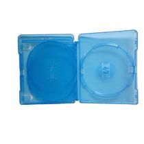 10 Estojo Capa Dvd Box Blu-ray Azul Triplo Grosso 14mm Novo
