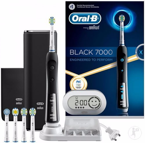 escova de dente el trica oral b braun precision black 7000 r em mercado livre. Black Bedroom Furniture Sets. Home Design Ideas