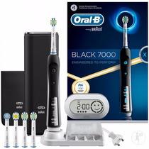 Escova De Dente Elétrica Oral B Braun Precision Black 7000