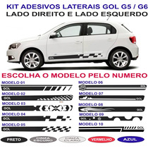 Kit Adesivo Vw Gol Bola G4 G5 G6 Quadrado Sport Lateral