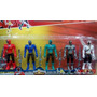 Kit Power Rangers Com 5 Bonecos Samurai Com Espadas