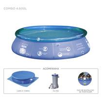 Piscina Lazer Casa Splash Fun Combo 4600 Litros 220v Top