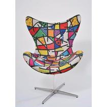 Cadeira Sala Poltrona Sofá Decoração Novela Mini Egg