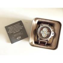 Relógio Fossil Jr1157 Pulseira Couro Novo Na Caixa