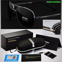 b94724229 Oculos De Sol Masculino Feminino Aviador Original Polarizado