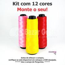 Kit Com 12 Linhas Fio Fino Princesinha Moda 500m Cada