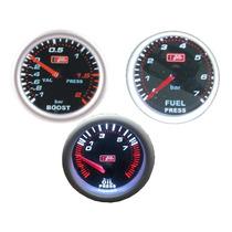 Kit 4 Relogi Auto Gauge P Comb, P Turbo, P Oleo Smoke, Conta