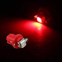 Kit 10 Lampadas Luz Led Vermelha T5 B8.5 Para Painel Carro