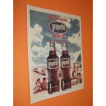 Cartaz Poster Placa Propaganda Antiga Grapette Crush