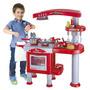 Kit Cozinha Infantil Fogão Forno Coifa Mini Panela Brinquedo