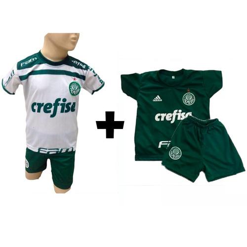 Kit 2x Conjuntos Infantil Palmeiras Pronta Entrega 2019 6450fe97e46b6