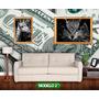 Papel De Parede Dolar Atrai Dinheiro 2.00x1.00mt 2m² Compre