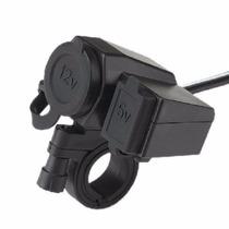 Tomada 12v E 5v Usb P/ Moto Carrregador Celular Gps Menor $