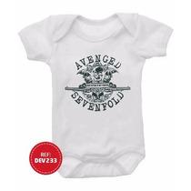 Body Bebê Personalizado Avenged Sevenfold Bandas Rock Guns