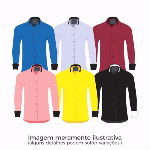 Kit 5 Camisas Social Masculina Slim - Manga Longa - P Ao G G. R  249.99 126a6e5b8a