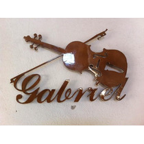 Violino Em Mdf