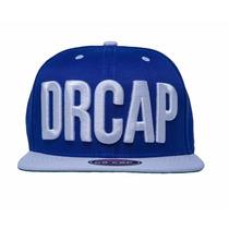 Boné Snapback Drcap Azul Royal Premium Aba Reta Doutor Cap