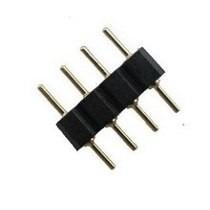 Conector Emenda Rgb 4 Vias Macho X Macho P/ Fita Led Ou Cabo