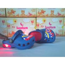 Crocs Capitão America-minios Luz Pisca Infantil-bebê-babuche