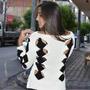 Blusas Femininas Tricot Tricô Renda Crochê Vazado Trançado