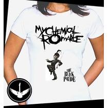 Camiseta My Chemical Romance Baby Look Regata Camisa Banda