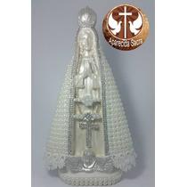 Imagem De Nossa Senhora Aparecida De Pérolas Branca 30 Cm