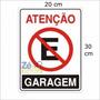 Placa Sinalização Proibido Estacionar Garagem Pvc Rígido