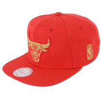 Boné Masculino Mitchell & Ness Nba Chicago Bulls Metallic