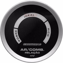 Hallmeter Digital 52mm Cronomac Sport Air/fuel Manômetro Led
