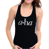 Regata Banda A-ha Feminina - Camiseta- New Wave E Pop Rock