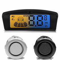 Sensor Estacionamento 4 Pontos Visor Lcd Flex Ambar E Azul