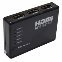 Mini Hub Dispositivo Hdmi Switch Splitter Com 6 Portas Hdmi