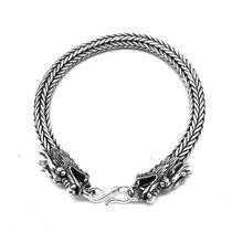 Bracelete Cobra 6mm Laminada 100% Prata De Lei Bali Dragão