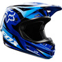 Capacete Fox V1 Race Azul 59-60 Grande Cross Trilha Mx A Sw