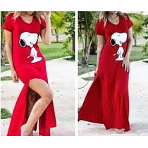 Vestido Mickey Longo Snoop Vermelho