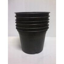 Lote 6 Vasos Plastico Planta
