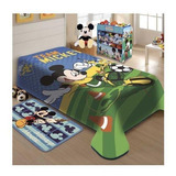 Cobertor Jolitex Ternille Raschel Licenciados Solteiro Mickey Futebol