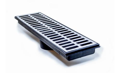 Kit 5 Pçs Coletor Grelha Aluminio Fundido 15x50 Ralo Linear