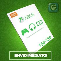 Microsoft Gift Card Cartão Xbox Live $100 (2x 50$)
